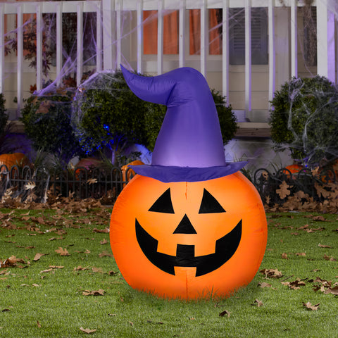 3.5' Airblown Scary Pumpkin Halloween Inflatable