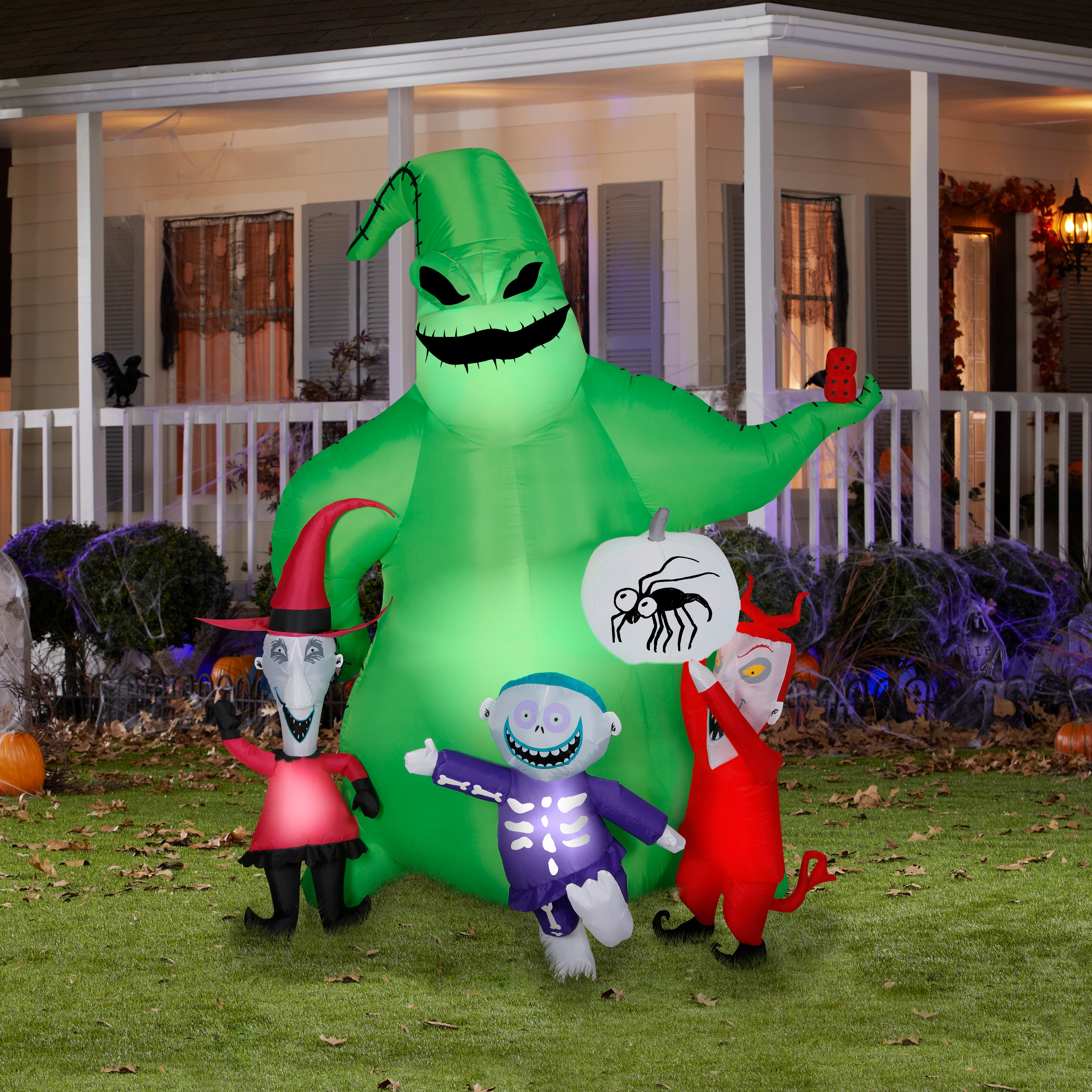 7' Airblown Oogie Boogie w/Creatures Nightmare Before Christmas Disney Scene Halloween Inflatable