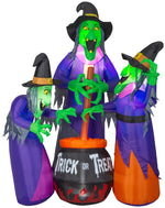 Load image into Gallery viewer, Projection Airblown Fire & Ice Three Witches w/Cauldron Scene