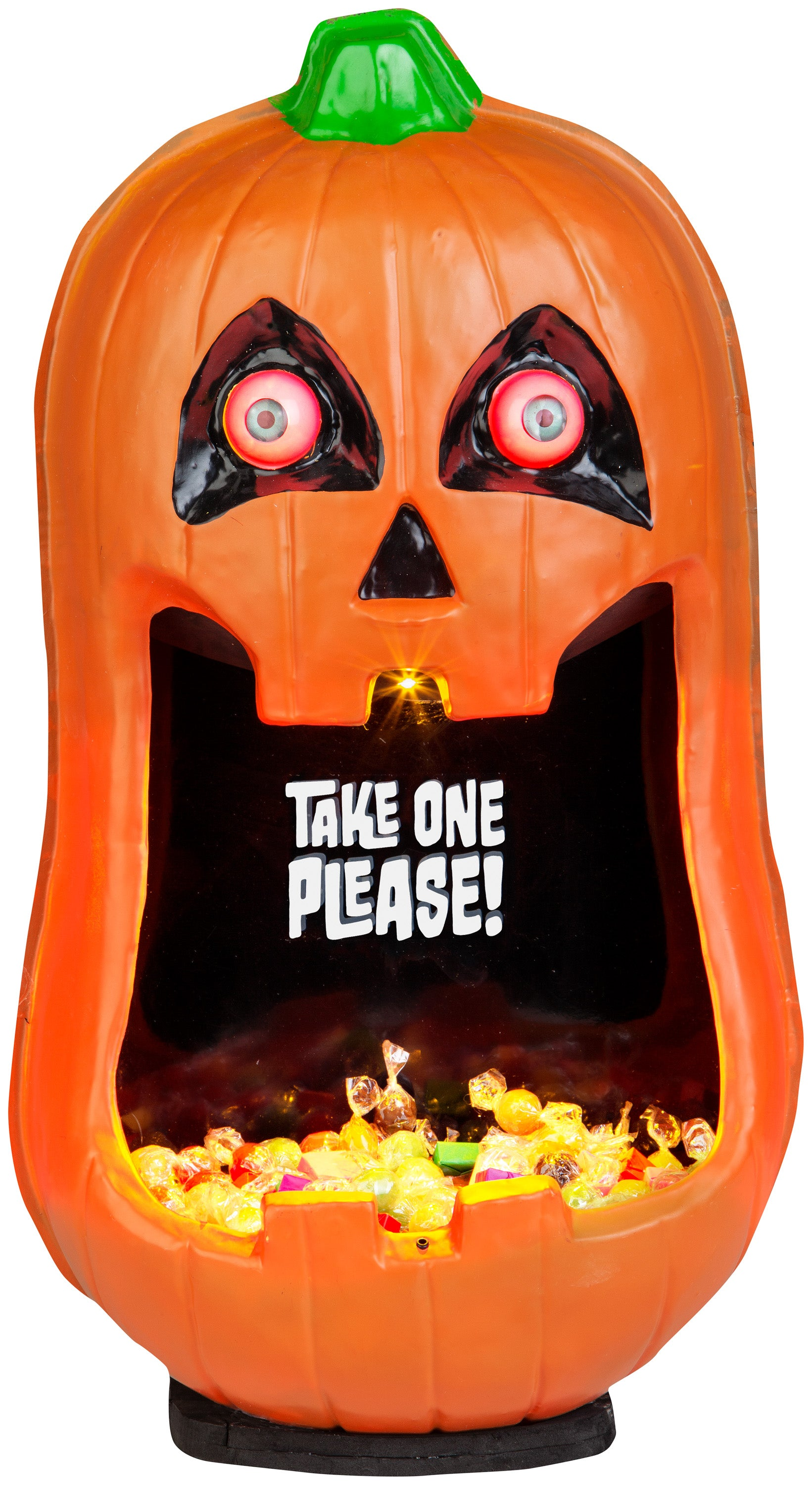 Gemmy Door Accessory Pumpkin Candy Bowl