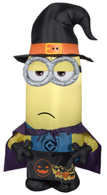 Load image into Gallery viewer, Gemmy 3.5' Airblown Inflatable Minion Kevin as Witch Universal