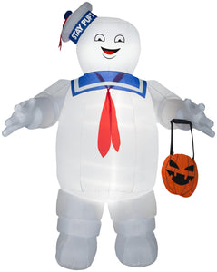 Gemmy Airblown Stay Puft w/Pumpkin Tote Giant Ghostbusters , 10 ft Tall
