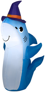 Gemmy 3.5' Airblown Inflatable Shark w/Witch Hat