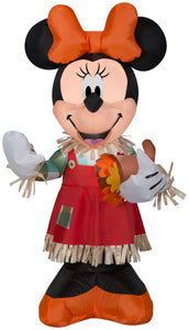 Gemmy 3.5' Airblown Disney Inflatable Minnie Holding Cornucopia