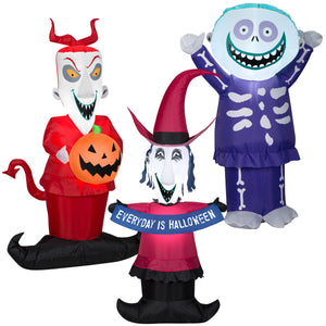 Gemmy Airbown Inflatable Halloween Lock Shock and Barrel Disney Combo Pack