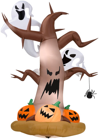 8' Airblown Dead Tree w/ Ghosts Halloween Inflatable