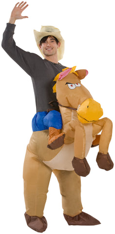 Adult Inflatable Riding on Horse Halloween Costume