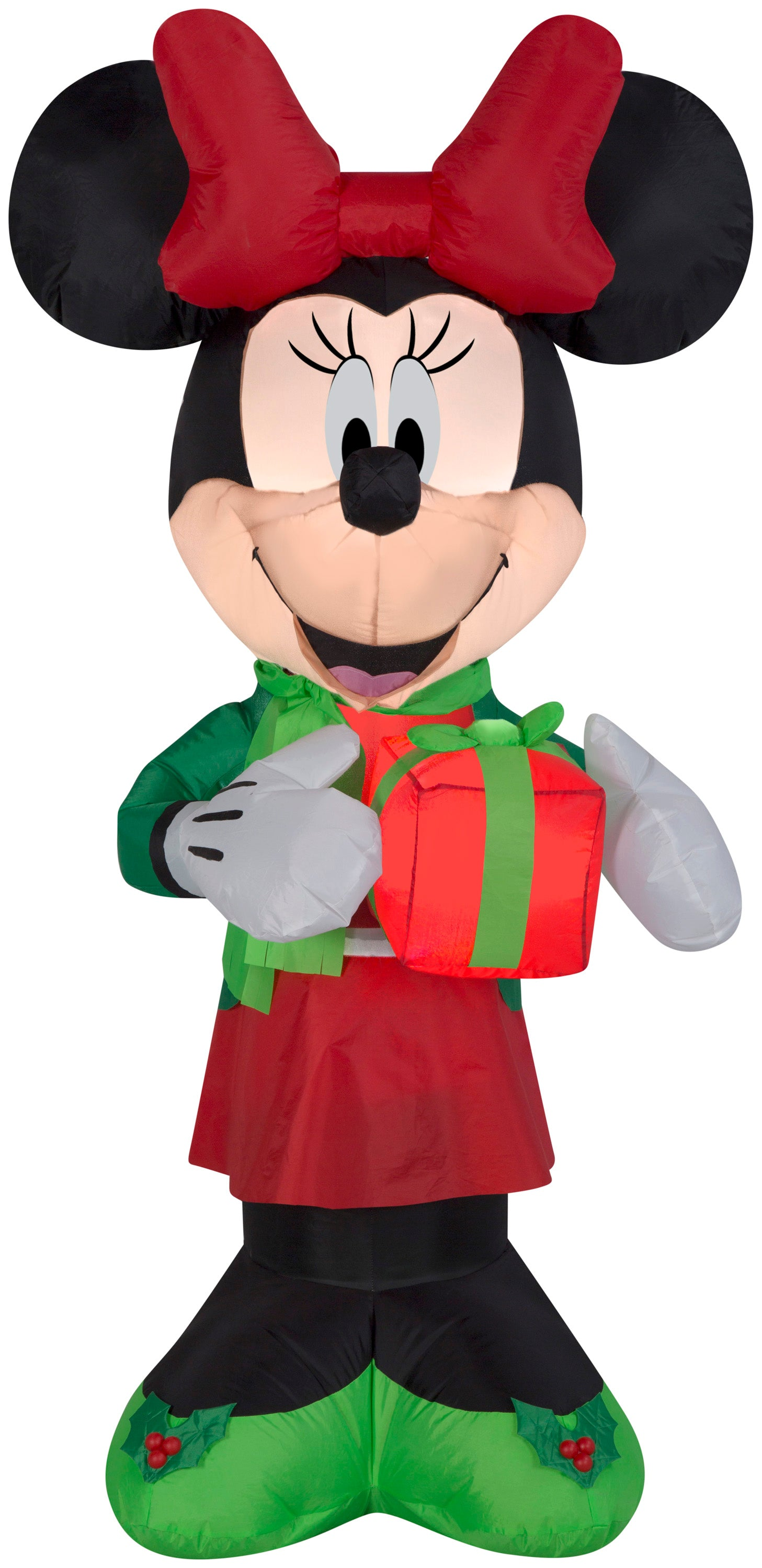 5' Airblown-Minnie w/Present Disney Christmas Inflatable