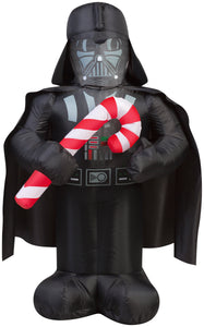 3.5' Airblown Darth Vader w/Candy Cane Star Wars Christmas Inflatable