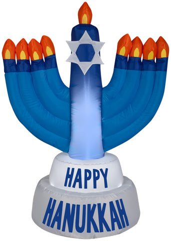 3.5' Airblown Outdoor Hanukkah Candles Christmas Inflatable