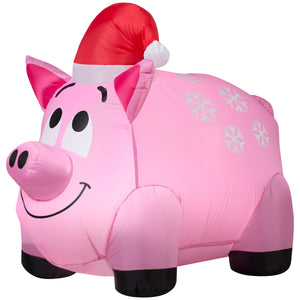 Gemmy Snowflakes and Pig Christmas Inflatable