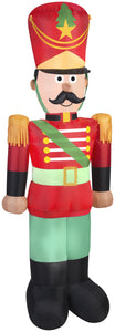 7' Airblown Toy Soldier w/ Mustache Christmas Inflatable