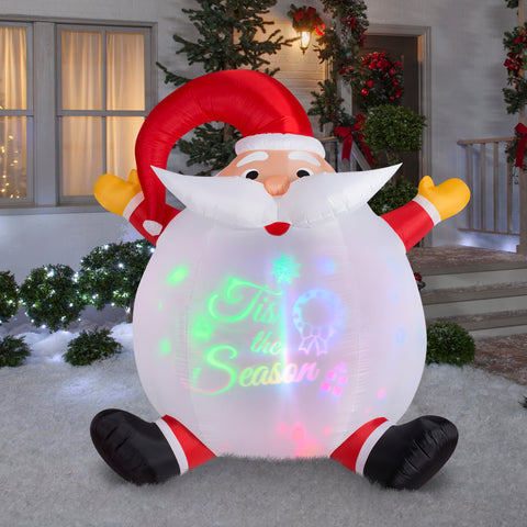 6' Panoramic Projection Airblown Santa Christmas Inflatable