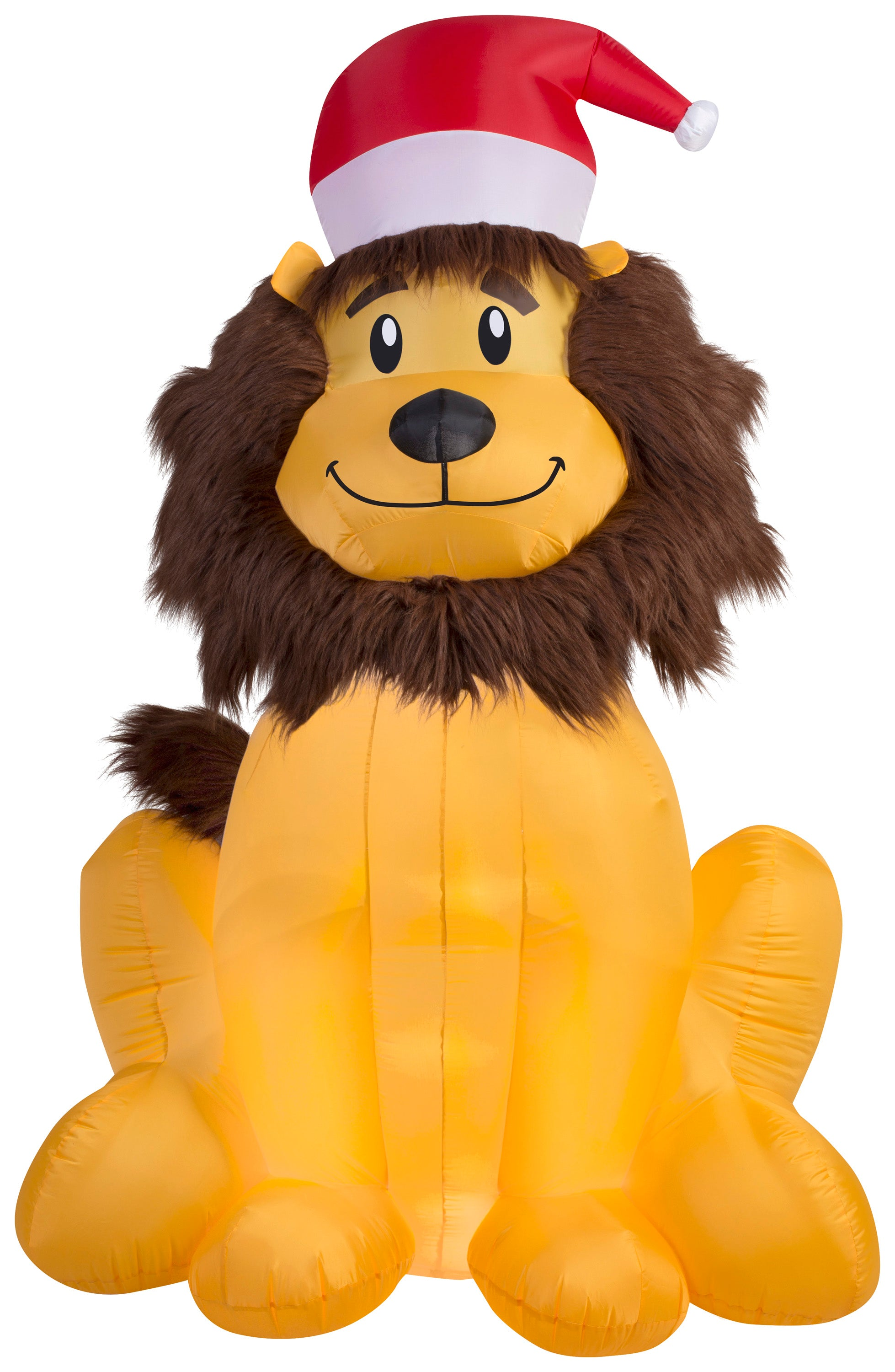 6' Airblown Mixed Media Lion Christmas Inflatable