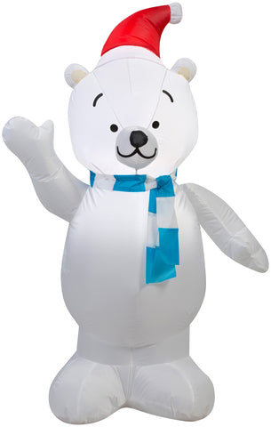 3.5' Airblown Outdoor Polar Bear Christmas inflatable