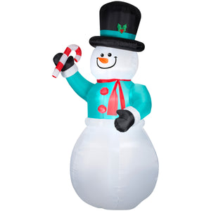 Gemmy Snowman with Candycane Christmas Inflatable