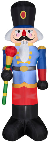 6.5' Airblown Blue Nutcracker Christmas Inflatable