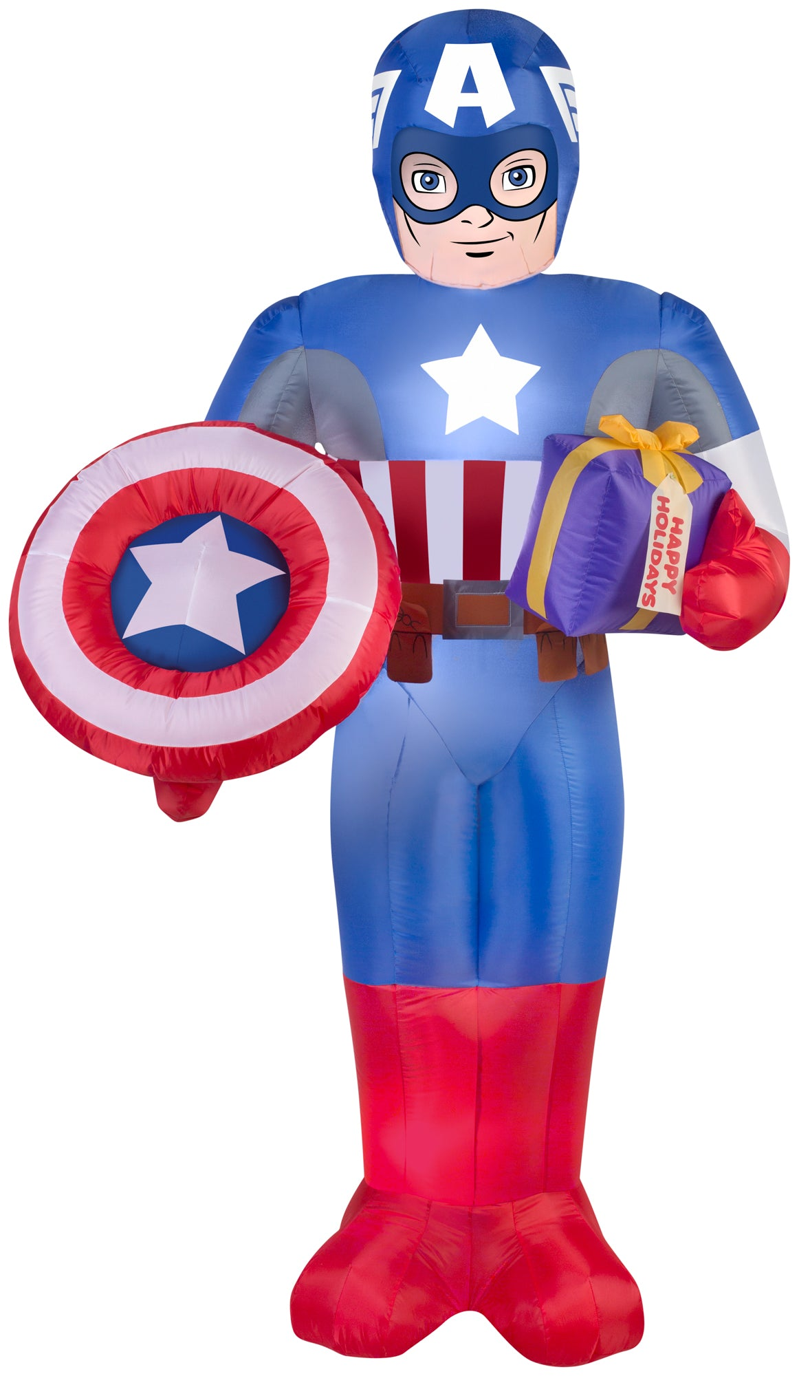6' Airblown Captain America Marvel Christmas Inflatable