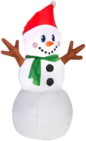 4' Airblown Outdoor Snowman Christmas Inflatable