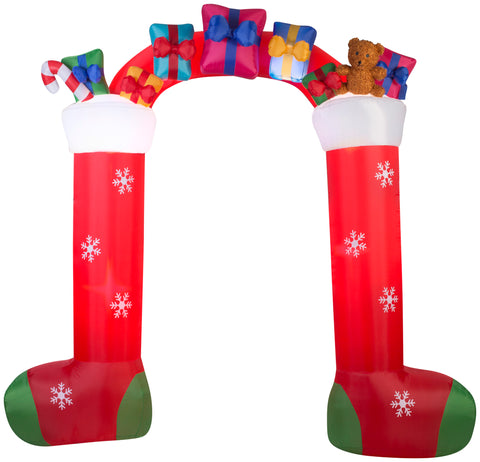 9.5 ft. Airblown Archway-Mixed Media-Stocking Christmas Inflatable