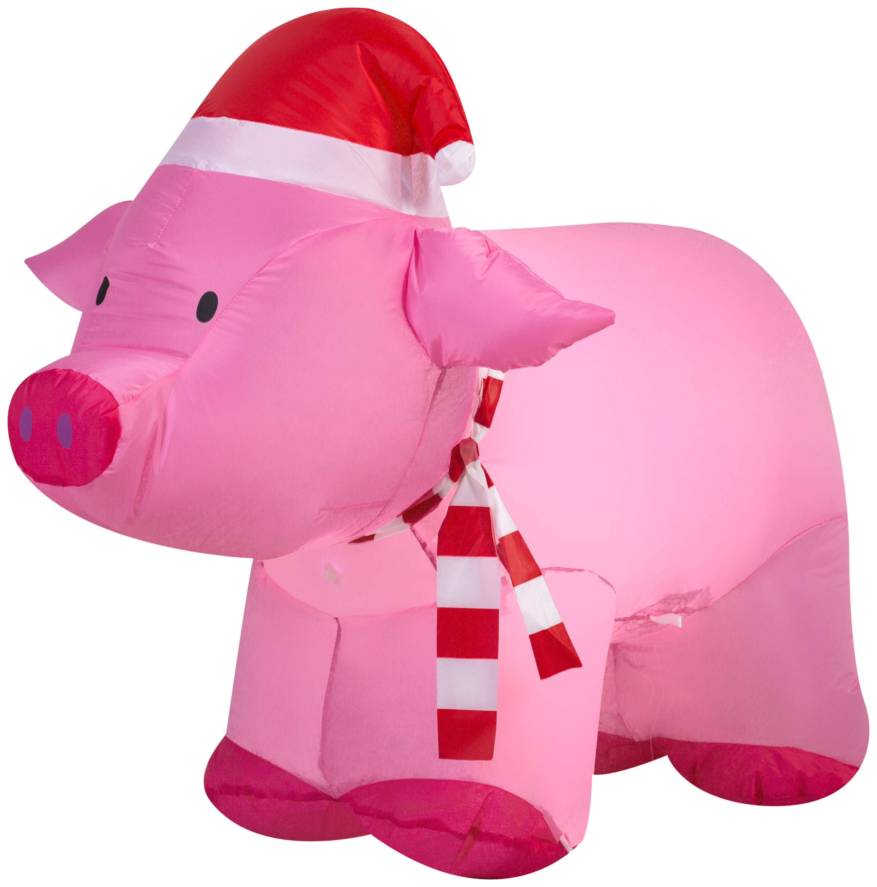 2.5' Airblown Pig Wearing Santa Hat Christmas Inflatable