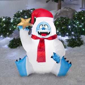 3.25' Airblown Sitting Bumble Holding Star Christmas Inflatable