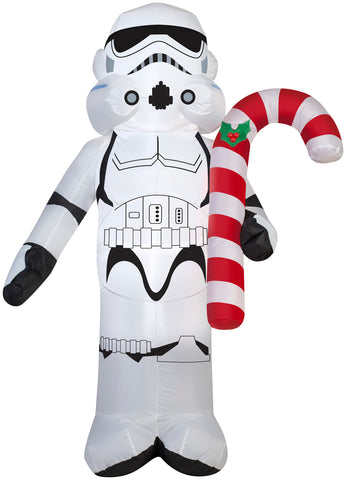 3.5' Airblown Stormtrooper Holding Candy Cane Star Wars Christmas Inflatable