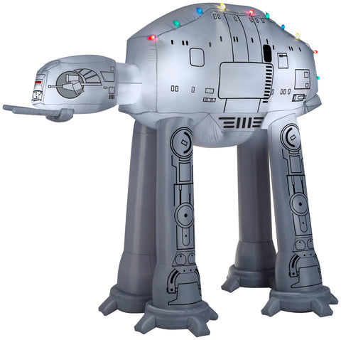 8' Airblown AT-AT w/ Light String Star Wars Christmas Inflatable