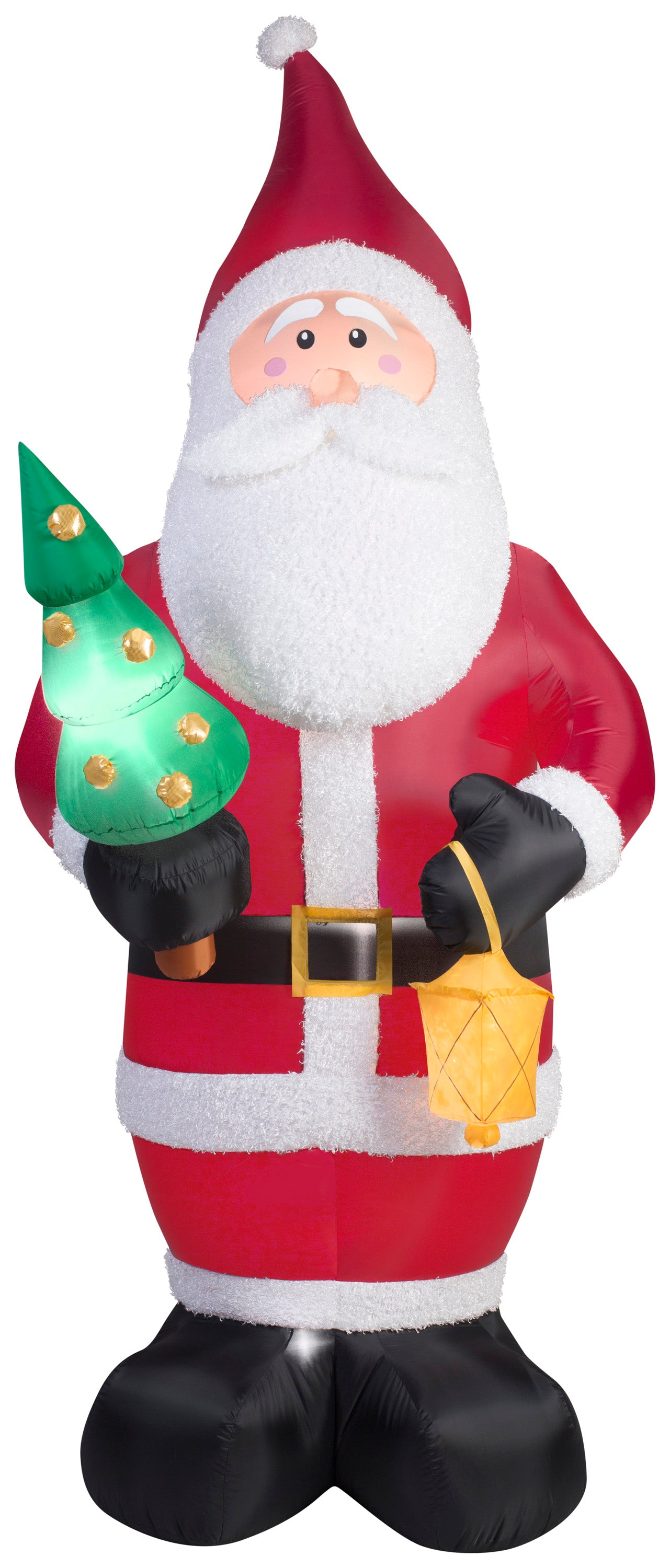 9.5' Airblown Kaleidoscope Mixed Media Santa Claus Christmas Inflatable