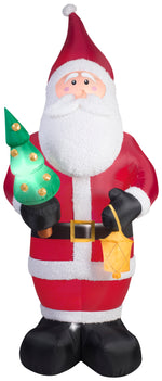 Load image into Gallery viewer, 9.5' Airblown Kaleidoscope Mixed Media Santa Claus Christmas Inflatable