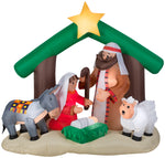 Load image into Gallery viewer, 6' Airblown Holy Family Nativity Scene Christmas Inflatable