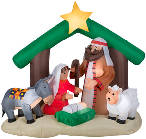 6' Airblown Holy Family Nativity Scene Christmas Inflatable