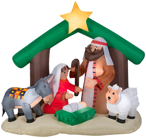 holy family nativity scene christmas airblown