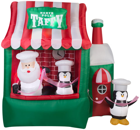7.25' Animated Airblown North Pole Taffy Stand Christmas Inflatable