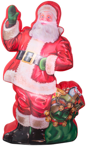7' Photorealistic Airblown Santa Claus w/ Gift Sack Christmas Inflatable