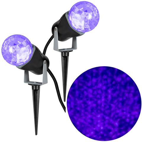 Kaleidoscope Lightshow Projection Combo Pack - Purple
