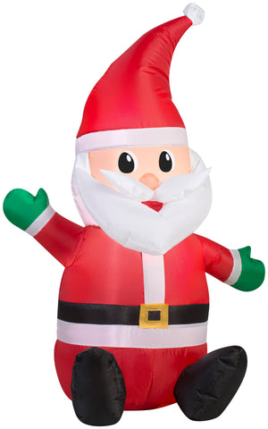 3.5' Airblown Outdoor Santa Christmas Inflatable
