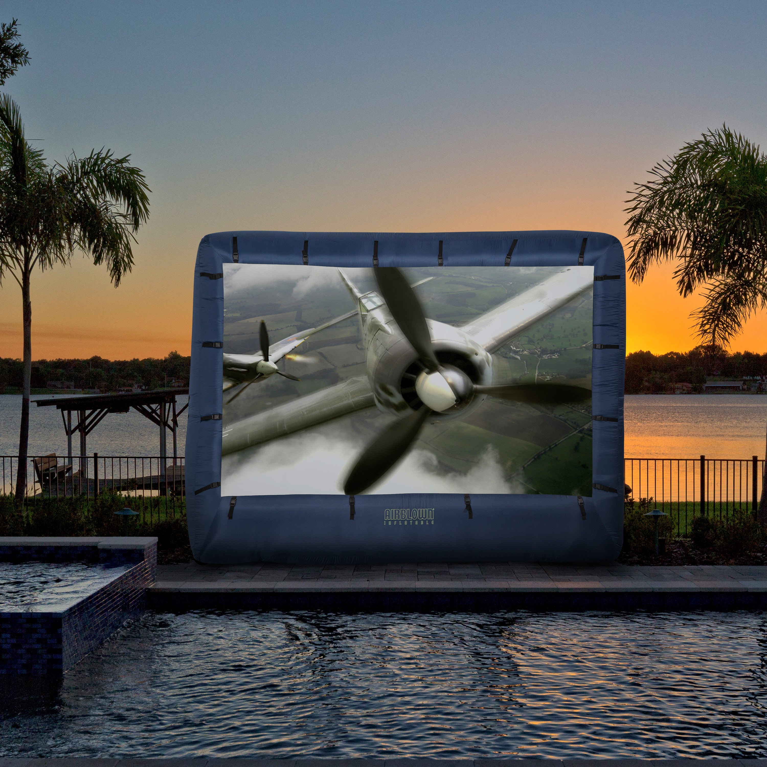 9.5' x 12' Airblown Movie Screen Inflatable