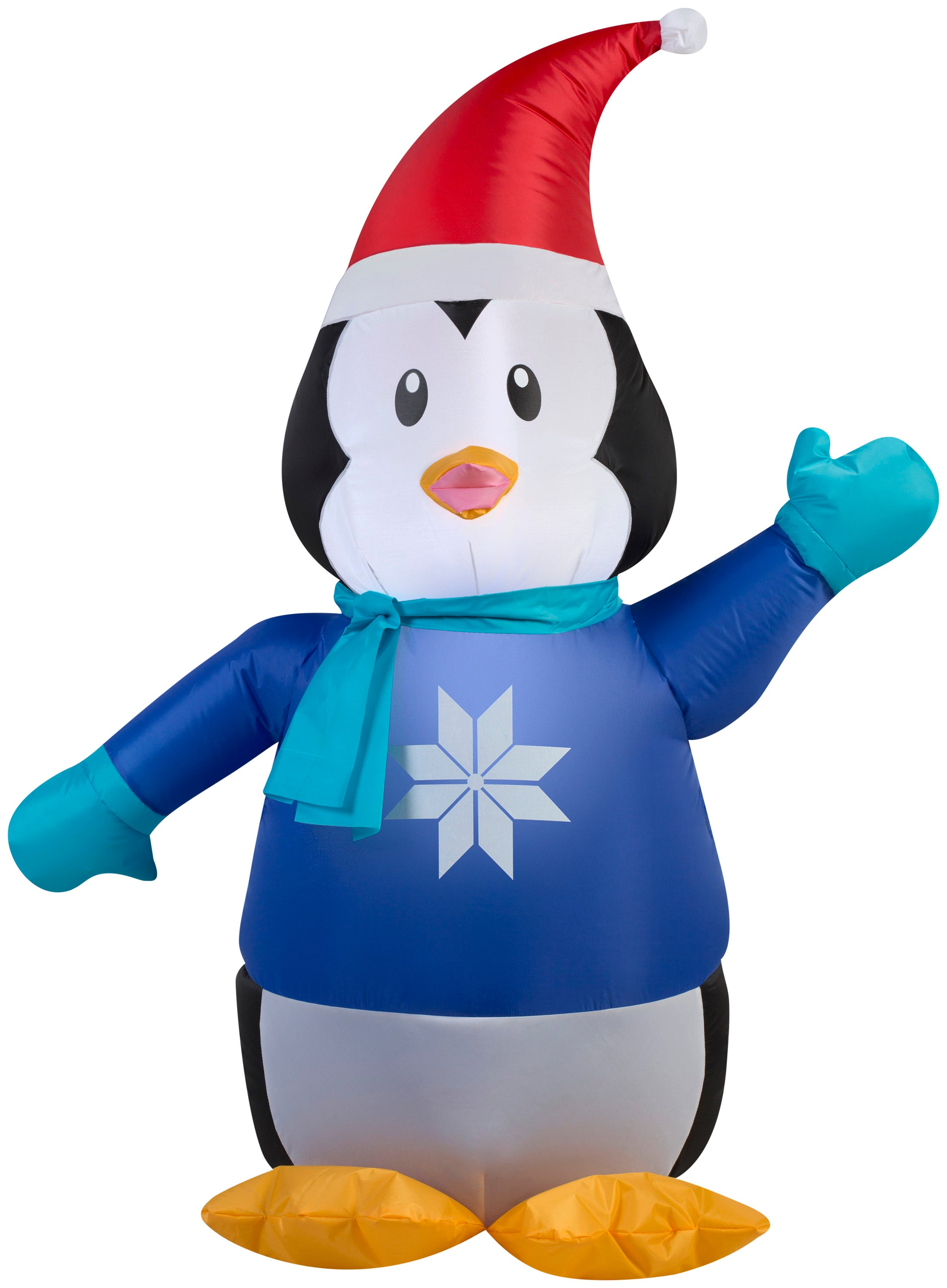 3.5' Airblown Outdoor Penguin in Sweater Christmas Inflatable