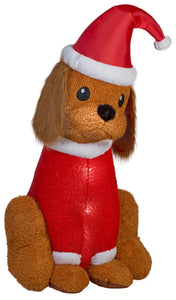 6' Airblown Mixed Media Cocker Spaniel Christmas Inflatable