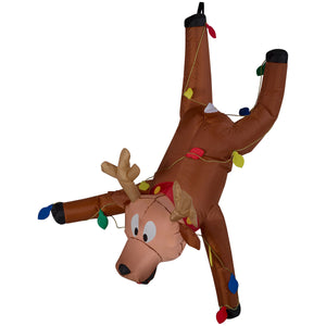 Airblown Inflatable Gutter Hanging Reindeer