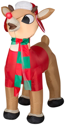 3.5' Airblown-Rudolph w/Winter Wear Christmas Inflatable