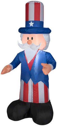 4' Outdoor Uncle Sam Spring Inflatable