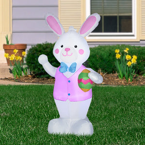 4' Airblown Easter Bunny with Egg Spring Inflatable