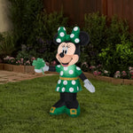 Load image into Gallery viewer, 3.5' Airblown St. Patrick's Day Minnie Disney Spring Inflatable