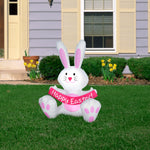 Load image into Gallery viewer, 3.5' Airblown White Easter Bunny Spring Inflatable