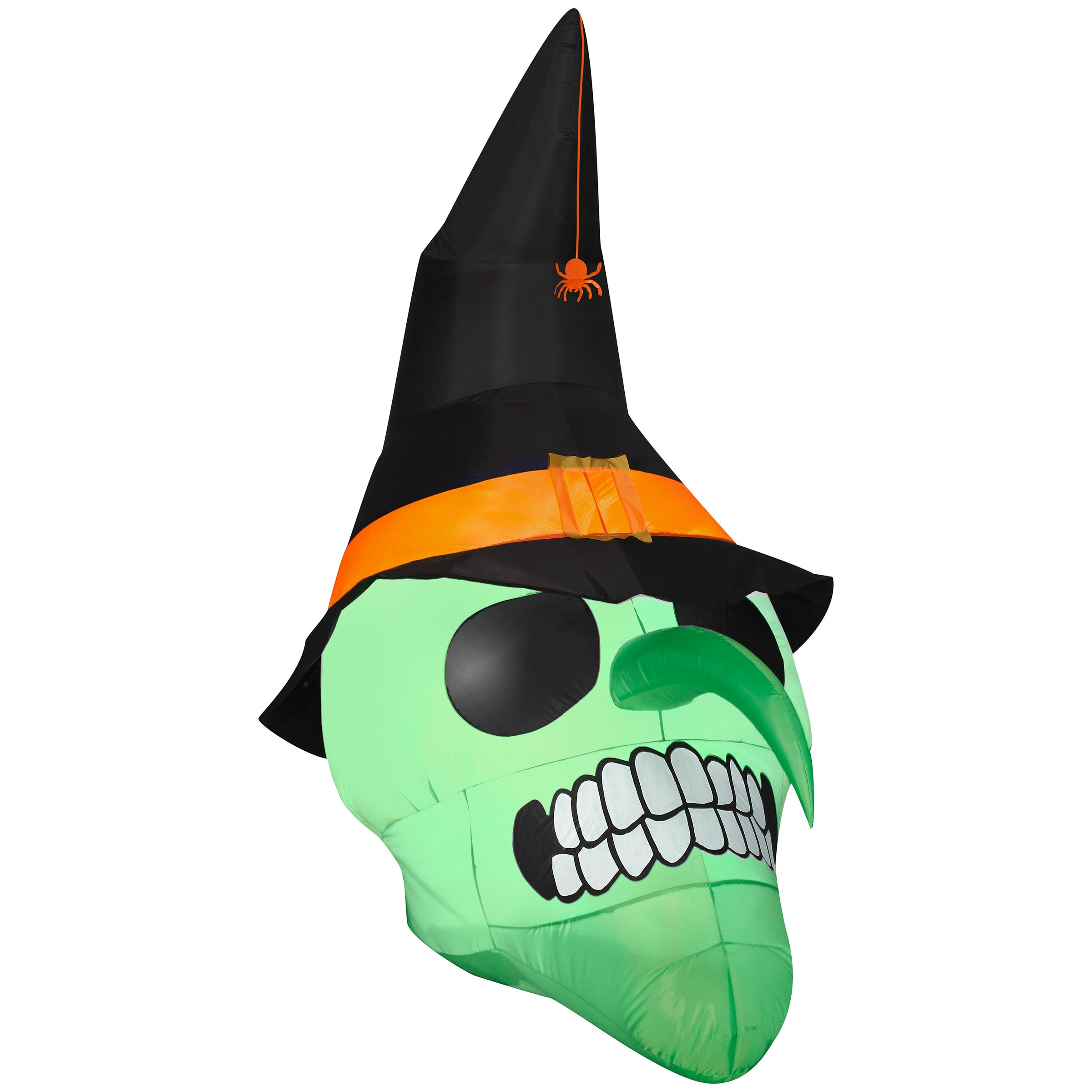 Airblown Inflatable Green Witch Skull