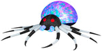 Load image into Gallery viewer, 8' Projection Airblown Kaleidoscope Black and White Spider Halloween Inflatable