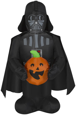 darth vader inflatable with pumpkin