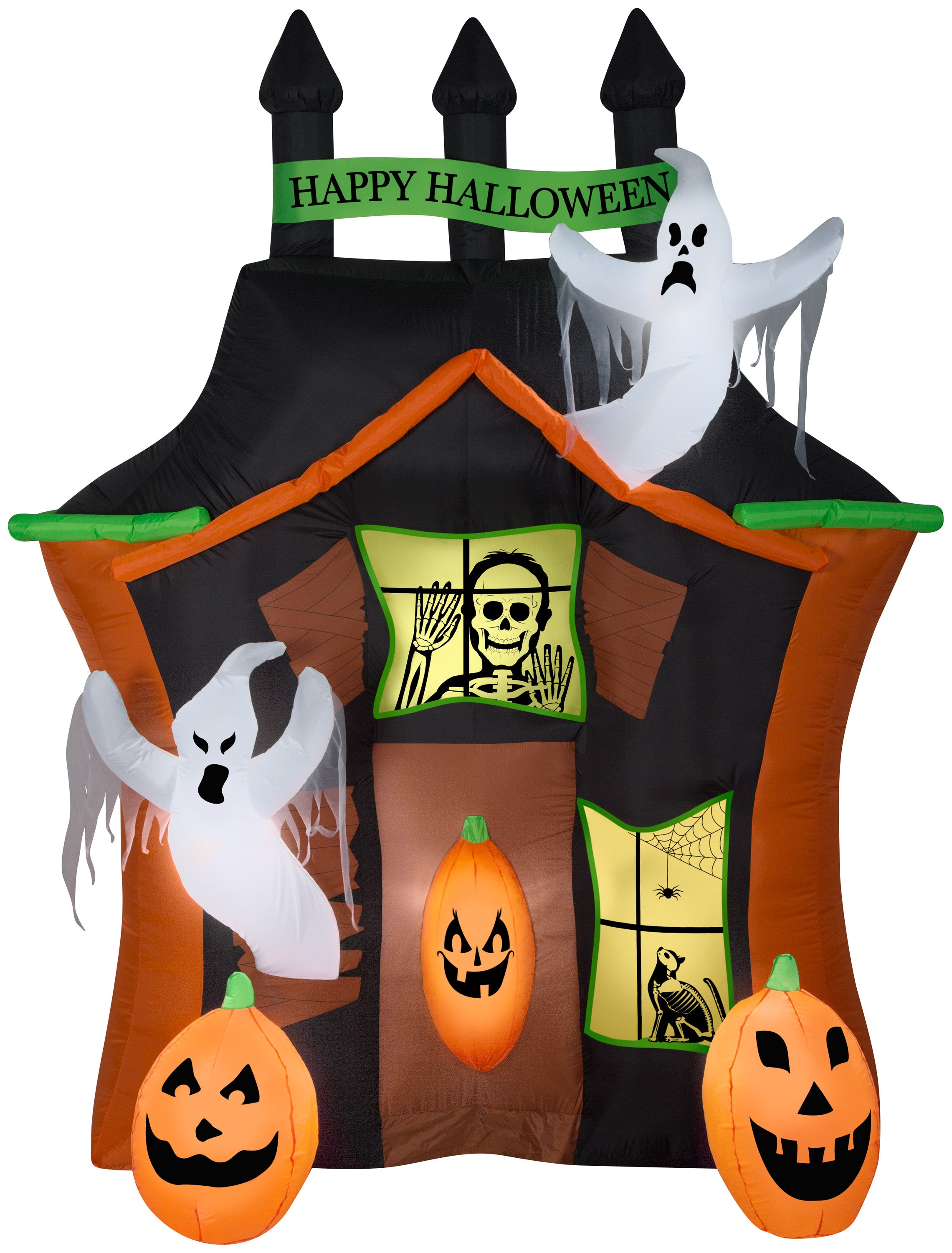 9' Airblown Haunted Ghost House Scene Halloween Inflatable